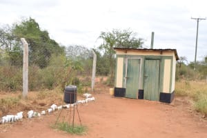 The Water Project: Ikaasu Secondary School -  Staff Latrines And Hand Washing Station
