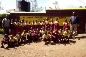 The Water Project: Shanjero Primary School -  Students At Front Gate