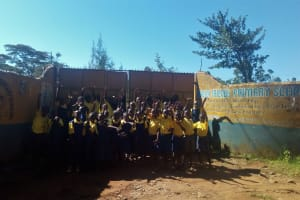 The Water Project: Gidagadi Primary School -  Students At School Gate