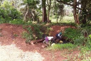 The Water Project: Rwentale-Kyamugenyi Community -  Fetching Water