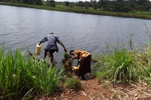 The Water Project: Maiha-Kayanja Community -  Current Water Source
