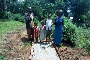 The Water Project: Lutali Community, Lukoye Spring -  Sanitation Platform