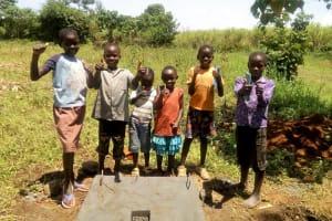 The Water Project: Shivagala Community, Paul Chengoli Spring -  Sanitation Platform