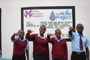 The Water Project: Uvaani Secondary School -  Finished Tank