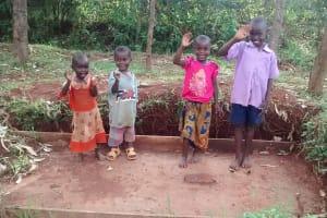 The Water Project: Lugango Community, Lugango Spring -  Sanitation Platform