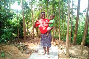 The Water Project: Handidi Community, Matunda Spring -  Sanitation Platform