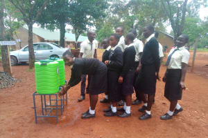The Water Project: Evojo Secondary School -  Hand Washing Station