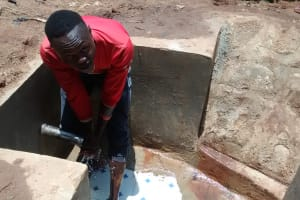 The Water Project: Lugango Community, Lugango Spring -  Clean Water