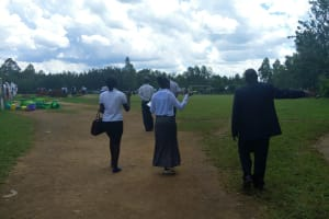 The Water Project: Mwitoti Secondary School -  Principal Showing Us Around The School