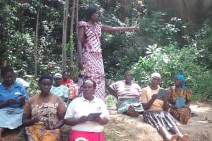 The Water Project: Lugango Community, Lugango Spring -  Training