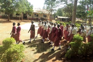 The Water Project: Lureko Girls Secondary School -  Students March To Assembly