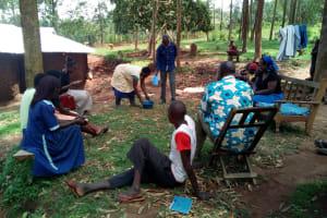 The Water Project: Mukhuyu Community, Shikhanga Spring -  Hand Washing