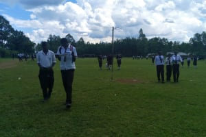The Water Project: Mwitoti Secondary School -  Students On School Grounds