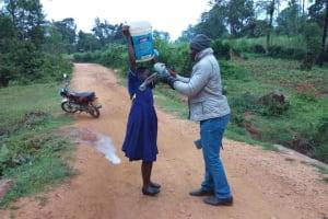 The Water Project: Iyenga Primary School -  Helping Prepare