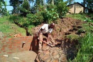 The Water Project: Handidi Community, Kadasia Spring -  Construction