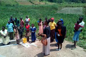The Water Project: Mukhuyu Community, Shikhanga Spring -  Onsite Training