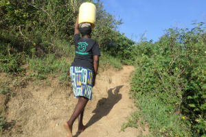 The Water Project: Emusanda Community, Walusia Spring -  Climbing The Hill From The Spring