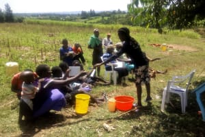 The Water Project: Shivagala Community, Paul Chengoli Spring -  Training