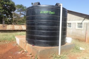 The Water Project: Lureko Girls Secondary School -  Tank Attached To Piped System