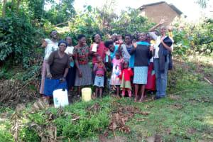 The Water Project: Shikhambi Community, Daniel Inganga Spring -  Group Picture