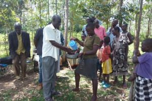 The Water Project: Lutali Community, Lukoye Spring -  Hand Washing