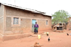 The Water Project: Nzalae Community A -  Agnes Mwende Homestead