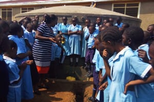 The Water Project: Mumias Central Primary School -  Tank Training