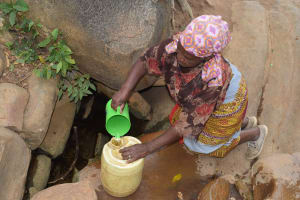 The Water Project: Mitini Community A -  Current Water Source