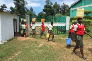 The Water Project: Malinya Girls Secondary School -  Carrying Water