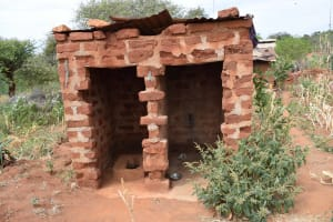 The Water Project: Nzalae Community A -  Agnes Latrine