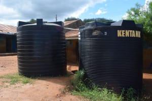 The Water Project: Kyanzasu Primary School -  Plastic Tanks