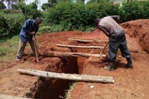 The Water Project: Evojo Secondary School -  Latrine Construction