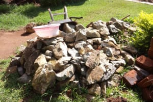 The Water Project: Timbito Community, Atechere Spring -  Stones Collected For Construction