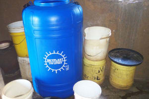 The Water Project: Shanjero Primary School -  Water Storage