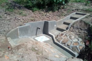 The Water Project: Handidi Community, Kadasia Spring -  Finished Construction