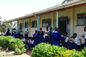 The Water Project: Matete Girls High School -  Students Eat A Meal Over Break