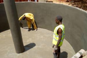 The Water Project: Mwiyenga Primary School -  Tank Construction
