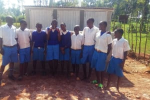 The Water Project: Mwiyenga Primary School -  Finished Latrines