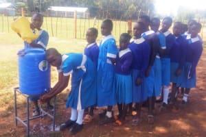 The Water Project: Mwiyenga Primary School -  Hand Washing Station