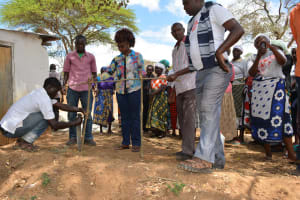 The Water Project: Kithuluni Community A -  Building Hand Washing Station