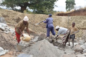The Water Project: Muselele Community -  Sand Dam Construction