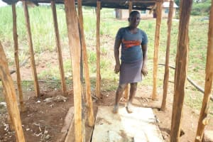 The Water Project: Futsi Fuvili Community, Futsi Fuvili Spring -  Sanitation Platform