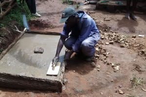 The Water Project: Ebuhando Community, Christopher Omasaba Spring -  Sanitation Platform Construction