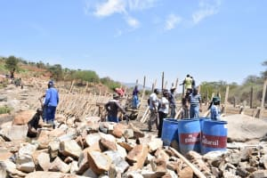 The Water Project: Kasioni Community -  Construction