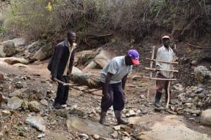 The Water Project: Ilinge Community B -  Sand Dam Construction