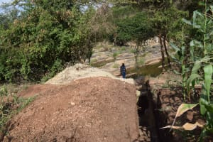 The Water Project: Kithuluni Community -  Trenching