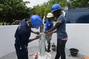 The Water Project: Kulufai Rashideen Secondary School -  Pump Installation