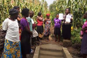 The Water Project: Mwiyala Community, Benard Spring -  Spring Demos
