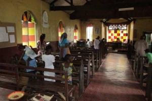 The Water Project: Benke Community, Waysaya Road -  Inside Church
