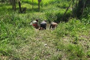 The Water Project: Rubona Kyagaitani Community -  Fetching Water